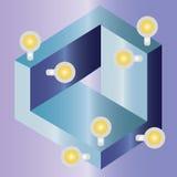 Bouton abstrait géométrique Image stock