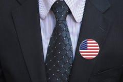 Bouton américain images stock