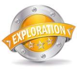 Bouton avec l'exploration illustration libre de droits