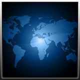 Bouton avec la carte de la terre illustration de vecteur