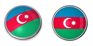Bouton Azerbaïdjan de drapeau illustration libre de droits