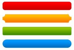 Bouton, barre, milieux de bannière avec différents coins Illustration de Vecteur