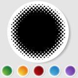 bouton blanc à moitié autour de son de positionnement Images stock