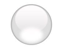 Bouton blanc d'aqua Photo libre de droits