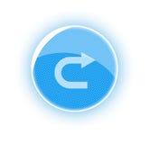 Bouton bleu de renvoi Photos stock