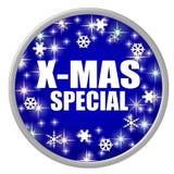 Bouton bleu de special de Noël Image libre de droits