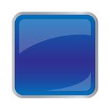 Bouton bleu-foncé carré pour le site Web Photographie stock