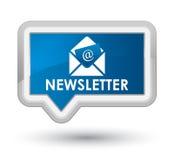 Bouton bleu principal de bannière de bulletin d'information Photo stock
