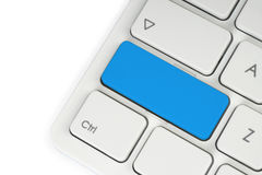 Bouton bleu vide Image libre de droits