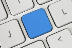 Bouton bleu vide Photos libres de droits