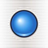 bouton bleu vitreux Photographie stock libre de droits