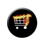 Bouton brûlant de système de Web illustration de vecteur
