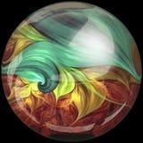Bouton brillant avec l'embellissement coloré et léger illustration libre de droits