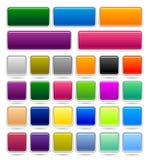 Bouton carré Image stock