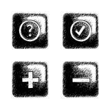 Bouton carré peu précis Illustration Libre de Droits