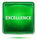 Bouton carré vert clair au néon d'excellence illustration libre de droits