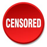 bouton censuré illustration stock