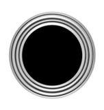 Bouton circulaire avec la trame en métal Photographie stock libre de droits