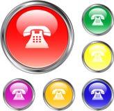 Bouton clair de téléphone Photographie stock libre de droits