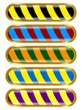 Bouton coloré et long Illustration Stock