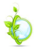 Bouton décoratif d'eco Photo stock