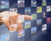 Bouton d'écran tactile Photographie stock