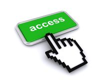 Bouton d'Access Photographie stock libre de droits
