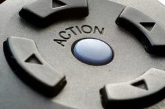 Bouton d'action Photos libres de droits