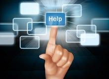 Bouton d'aide de poussée de doigt Image libre de droits