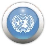 Bouton d'Aqua d'indicateur de nation unie Photographie stock libre de droits