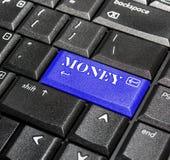Bouton d'argent. Photographie stock libre de droits