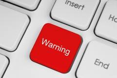 Bouton d'avertissement rouge image stock