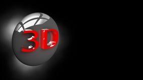 Bouton 3D dans l'illustration 3D Photos libres de droits