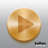 Bouton d'or de jeu image stock
