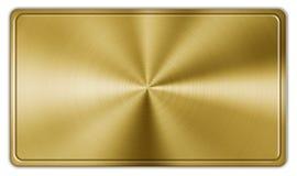 Bouton d'or de rectangle Image stock