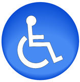 Bouton d'handicap Photo stock