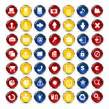 Bouton d'icônes d'Internet et de communication Photographie stock libre de droits