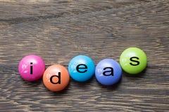 Bouton d'idées Images stock