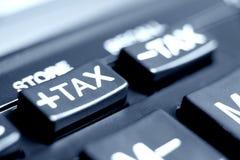 Bouton d'impôts Photographie stock libre de droits