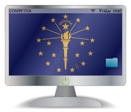 Bouton d'Indiana Computer Screen With On Image stock