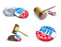 Bouton d'insigne d'élection des Etats-Unis de vote pour 2016 Photo libre de droits