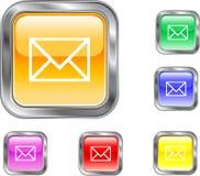 Bouton d'Internet d'email Photo libre de droits