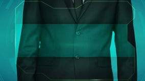 Bouton d'inverse de poussée d'homme d'affaires sur l'écran tactile Un endroit pour une inscription banque de vidéos