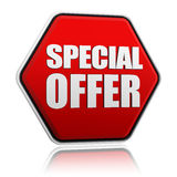 Bouton d'offre spéciale Images stock