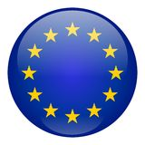 Bouton d'Union européenne Photo stock
