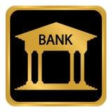 Bouton de banque sur le blanc Photographie stock libre de droits