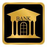 Bouton de banque sur le blanc Images libres de droits