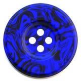 Bouton de bleu de cru Photos stock