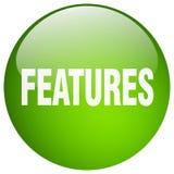 Bouton de caractéristiques illustration stock