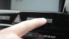 Bouton de carburant banque de vidéos